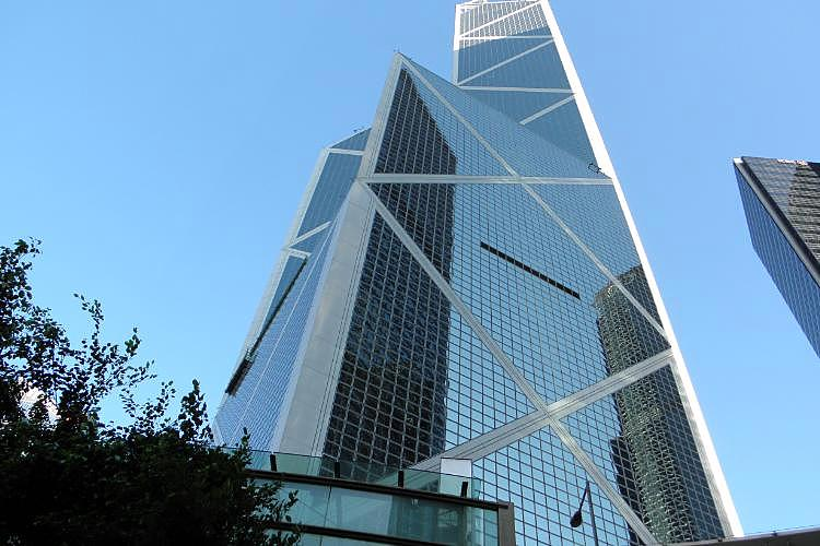 香港知名中國銀行大樓