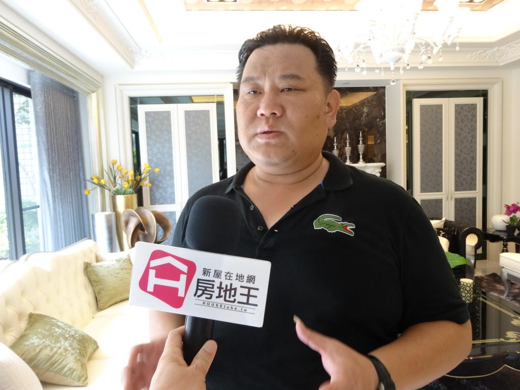 桔昌建設董事長郭建志,接受房地王專訪