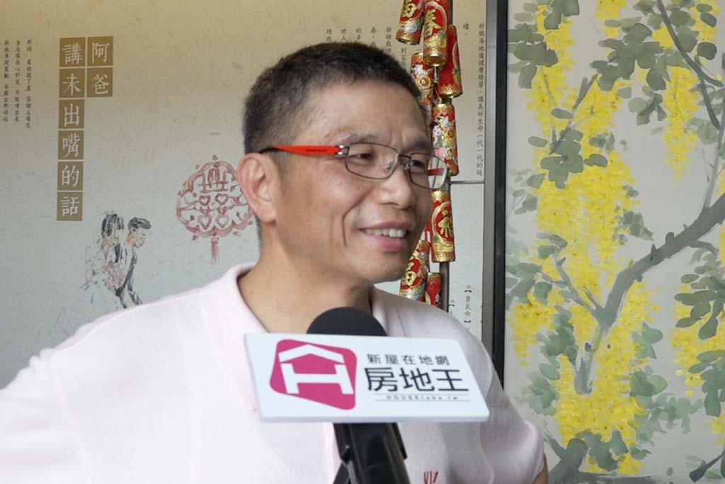 圖片:「寶旺建設」總經理劉明宗  台中唯一住宅類銀級智慧建築【天美】