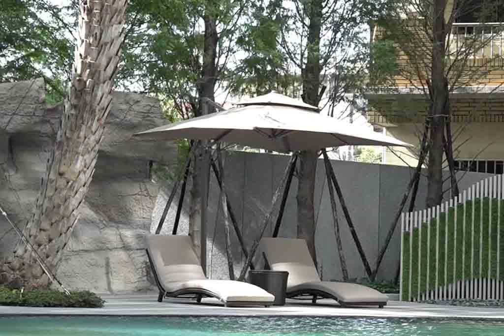精銳建設中庭游泳池