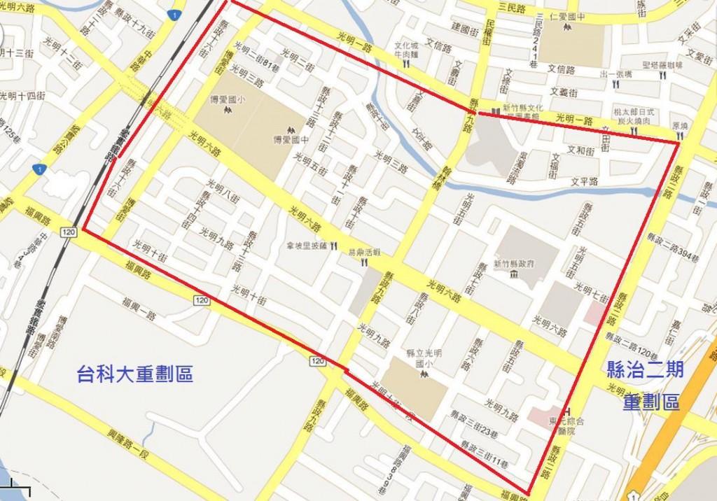 圖片:重劃特區巡禮 發展成熟的竹北縣治一期重劃區