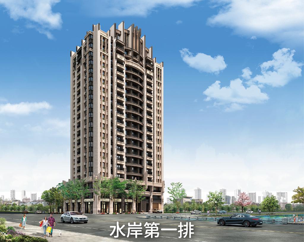 圖片:台中南區預售大樓| 富宇建設 「富宇沐川」河岸景觀、綠川第一排 打造跨世代新古典地標