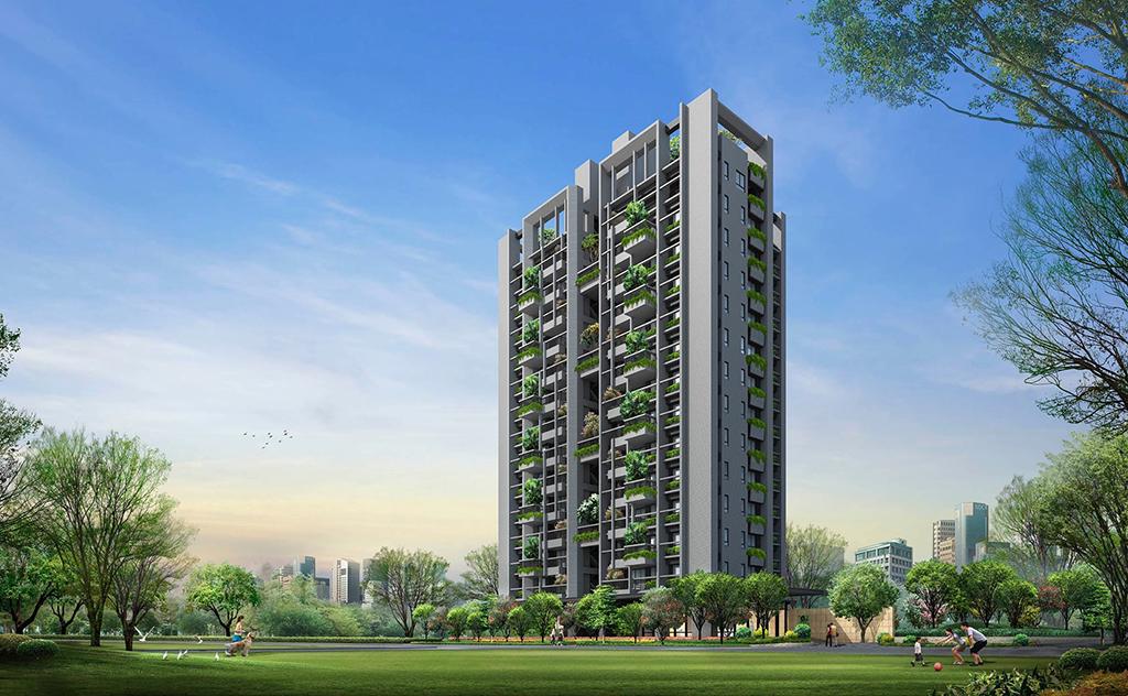 圖片:台中南屯預售大樓| 引綠入宅的實踐者 新業建設「大塊森鄰」 植森於市 打造最美生活場域