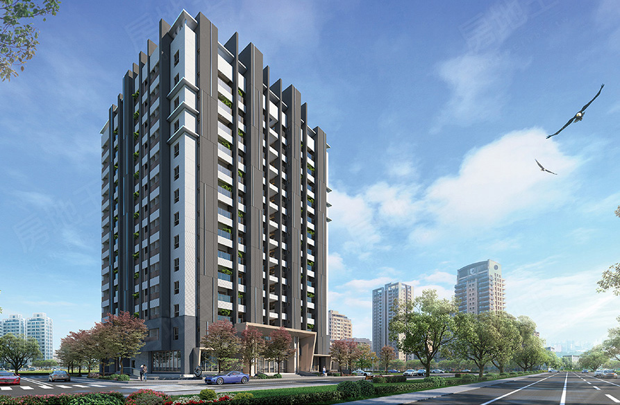 圖片:台南市安南區九份子預售大樓【天慕II】皇龍建設