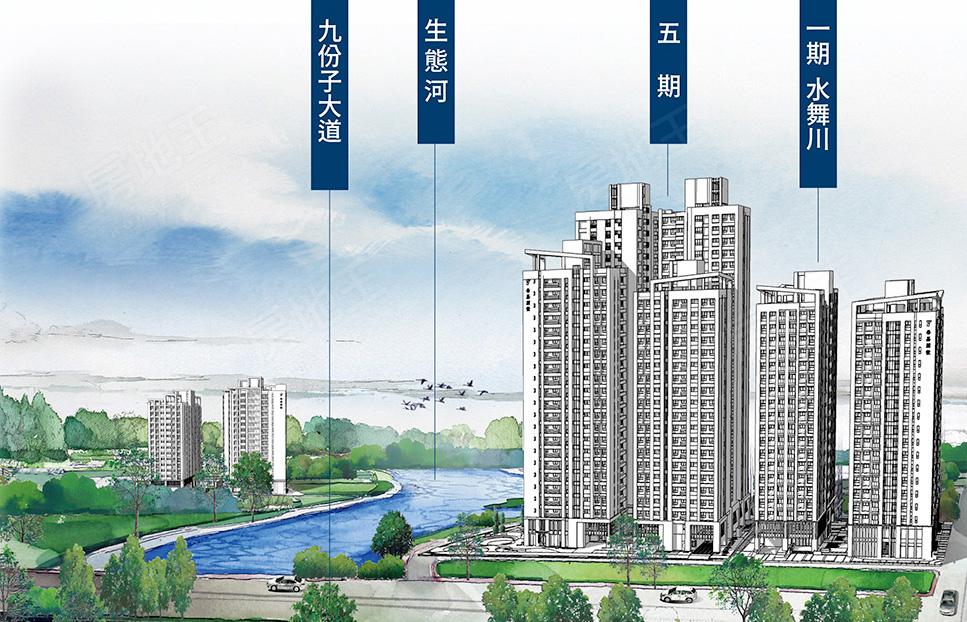 圖片:台南市安南區九份子預售大樓【水律川】泰嘉開發