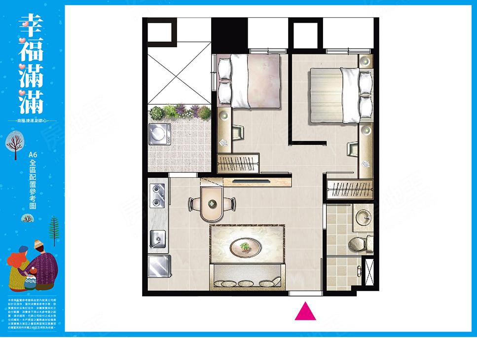 圖片:新北市泰山區預售大樓店住【幸福滿滿】茂德建設