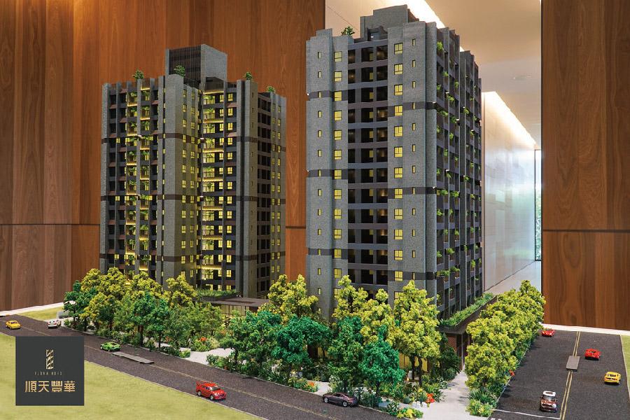 圖片:台中潭子新建案 | 順天豐華。千坪花園的家