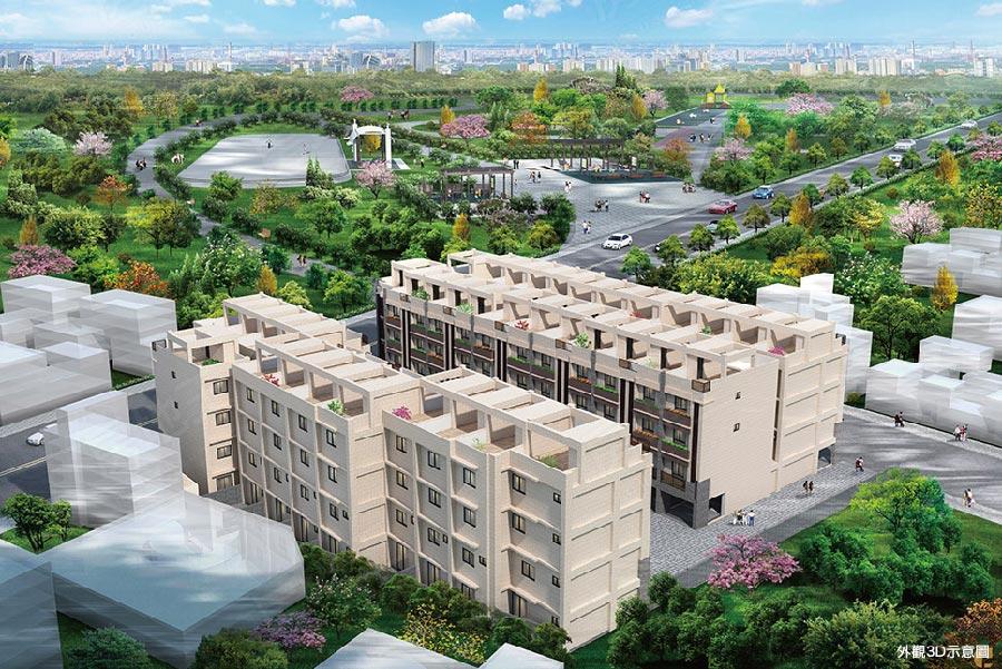 圖片:建案搶先看|台中大里區「泓樹居森林 」2.2公頃綠地 稀有淨化美境
