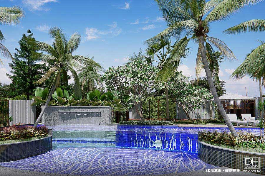 圖片:台中建案開箱 | 惠國建設 沐微風 大雅第一景。AI智慧星級泳池渡假宅