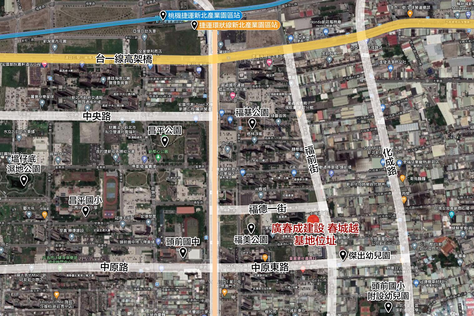 圖片:建案搶先看 |廣春成建設 春城越 福美公園濃蔭靜巷,三面臨路大天地