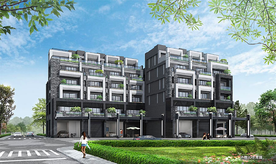 圖片:建案搶先看|烏日高鐵特區 墨砌榮泉。國際飯店為鄰 雙公園電梯豪墅