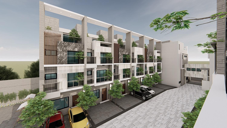 圖片:海銘寬玉|沙鹿市核心 大棟距寬庭 市區大樓價 買電梯雙車墅 |台中建案開箱