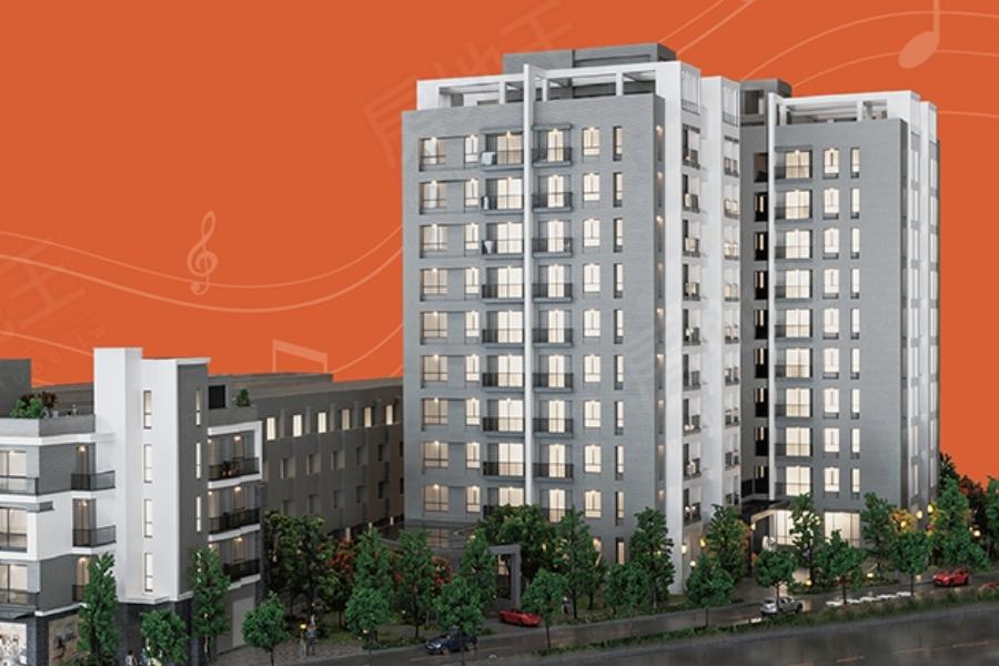 圖片:台南麻豆大樓-臺邦建設 交響悅:演奏一座城市的溫暖樂章